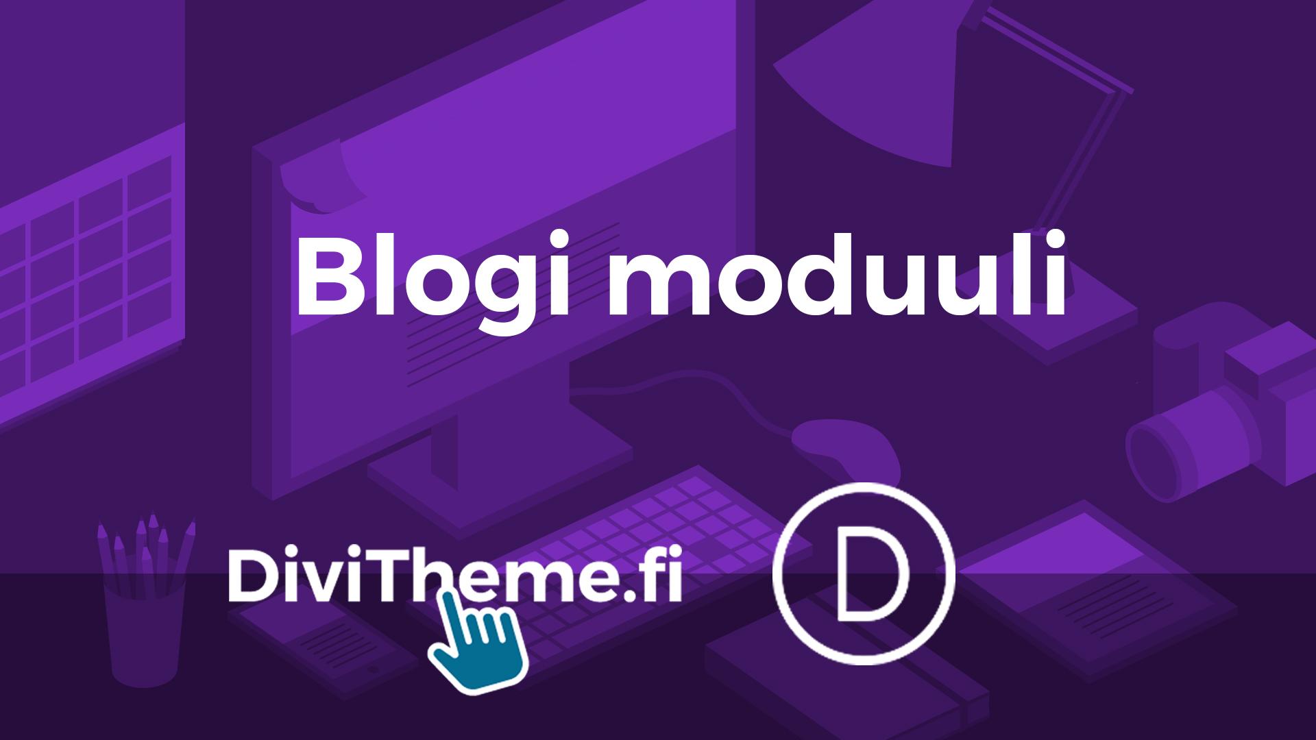 Blogi moduuli